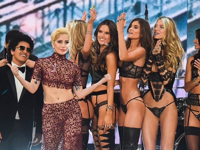 Lady Gaga did the nicest thing ever for the Victoria's Secret Parade models
