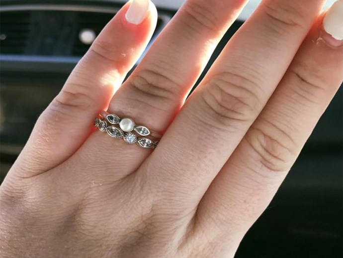 woman called engagement ring pathetic