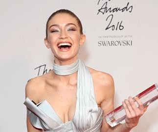 Gigi Hadid wins Model of the Year at Britain's Fashion Awards