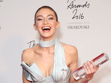 Gigi Hadid wins Model of the Year at Britain's Fashion Awards, gets very emosh