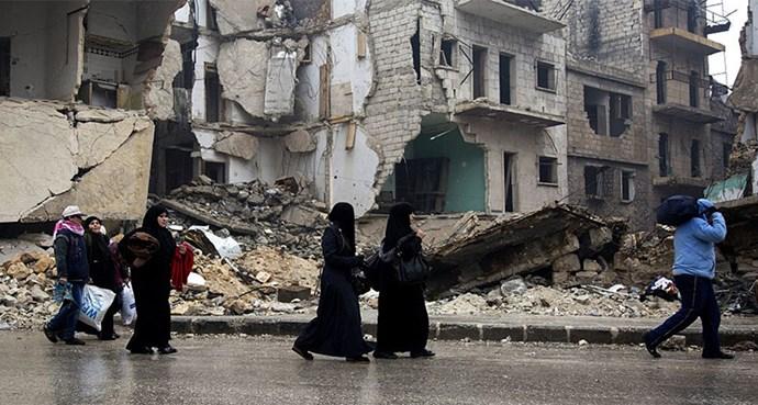 women suffering in Aleppo