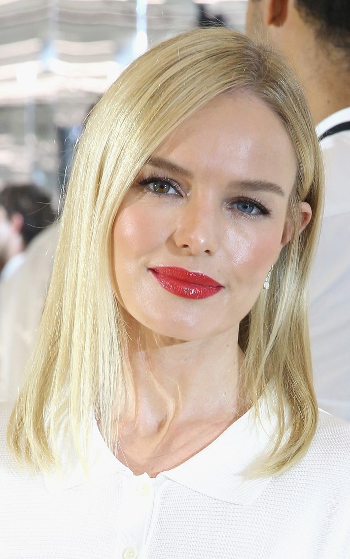 **BUTTER BLONDE**   Kate Bosworth rocks a warmer, buttery shade of blonde.