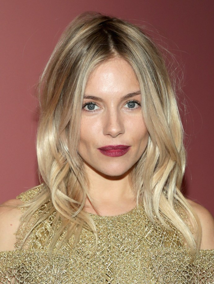 **ROOTY BLONDE**   Our original blonde-spiration, Sienna Miller shows us what cool-girl hair really looks like.