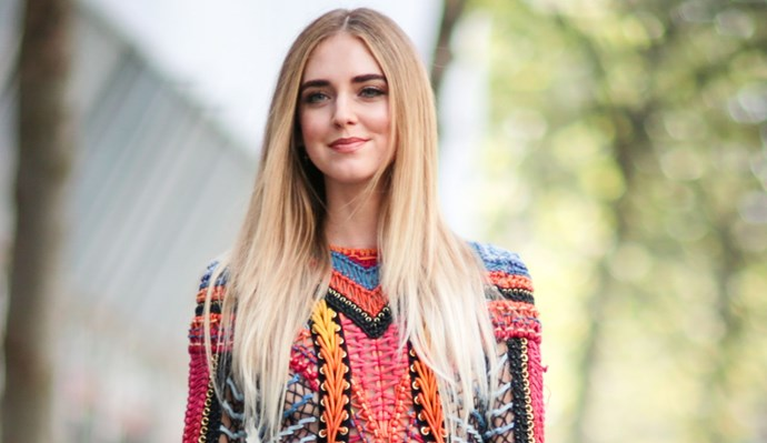 **OMBRE PLATINUM**   Dark blonde roots with icy platinum ends, Chiara Ferragni's ombre hair is chic AF.