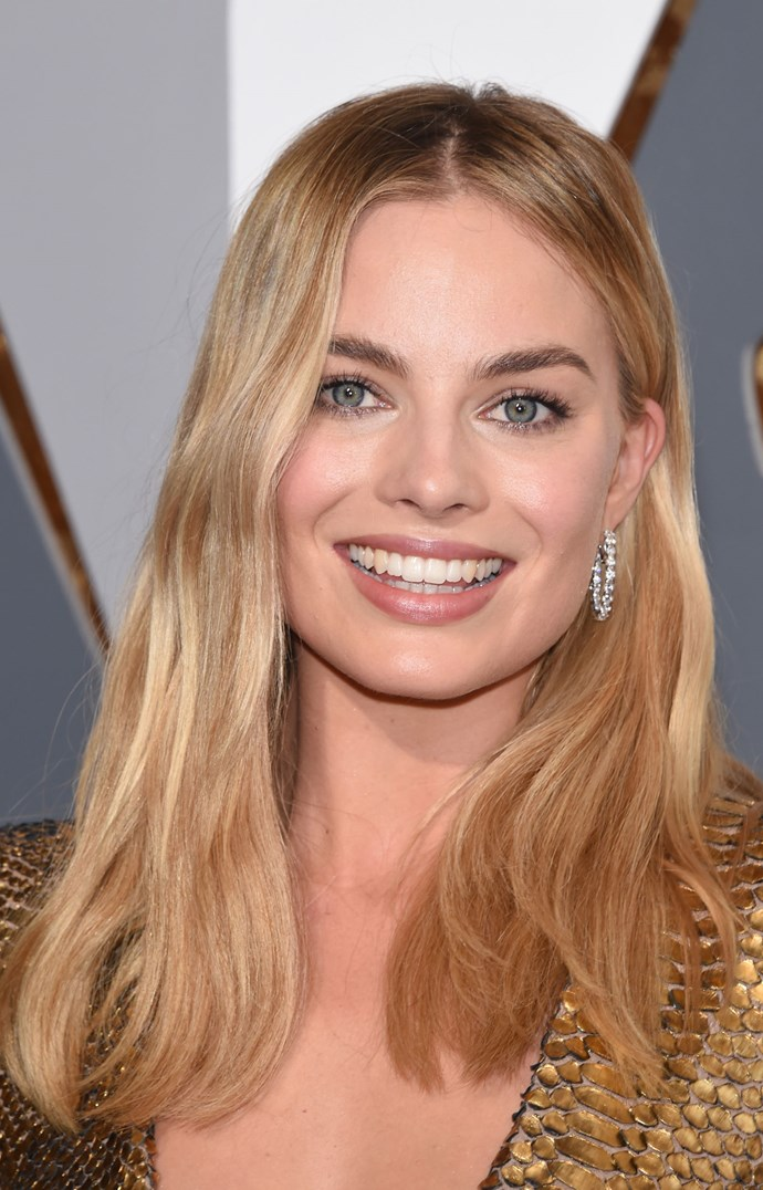 **SANDY BLONDE**   Ah Margot Robbie (aka, our dream girl). Her sandy blonde lengths are perfection, agreed?