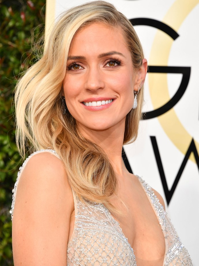 Here, Kristen Cavallari debuts one of 2017's hottest trends: the deep side part.
