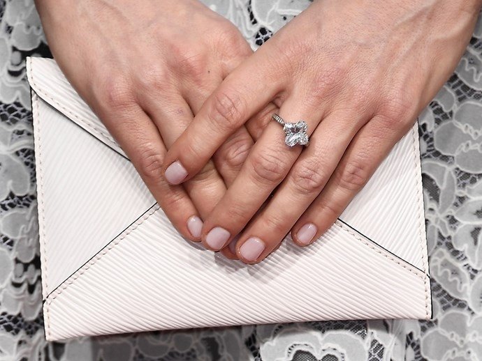 **Michelle Williams** <br> <br> Round, pale pink nails is always a safe play when you'd prefer your bling do the talking.