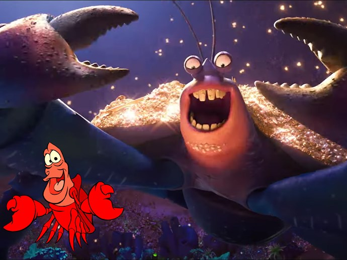 ***The Little Mermaid* and *Moana* theory** Lin-Manuel Miranda (the Broadway genius and composer for *Moana*) revealed on [Twitter](https://twitter.com/Lin_Manuel/status/811546504020291584?ref_src=twsrc%5Etfw) that he was disturbed by Sebastian almost getting cooked by humans, and promised one day that he'd avenge him.  Twenty-seven years later and we have Tamatoa, a giant crab who sings about eating humans. Go figure.
