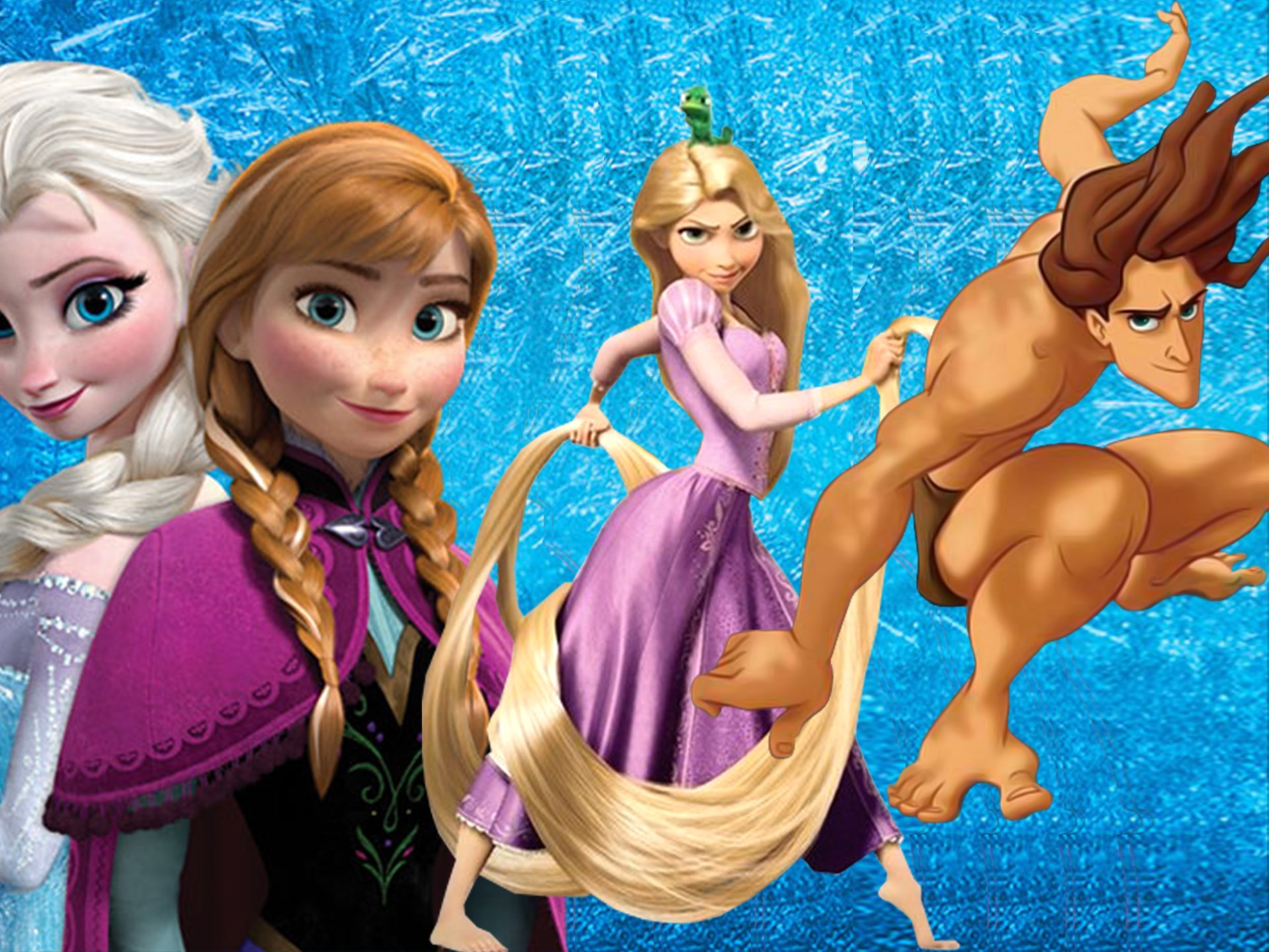 ***Frozen, Rapunzel* and *Tarzan* theory** Here's the deal: At the beginning of *Frozen*, we see Anna and Elsa's parents leave on a ship for a wedding. This was actually *Tangled's* Flynn Ryder and Rapunzel's wedding. At the time, it's believed that Anna and Elsa's mum was pregnant with their little brother... TARZAN. It's even been confirmed.