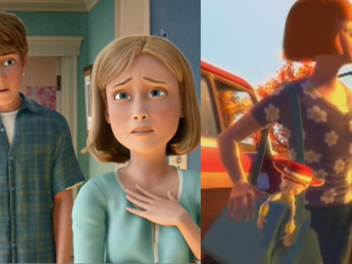 **The *Toy Story* theory** This heartbreaking theory suggest that Andy's mum is in fact, Emily aka the woman who grew up and decided that she no longer wanted Jesse, which evidently led to [the most tear-jerking scene](https://www.youtube.com/watch?v=82ceZYlyifU) EVER.