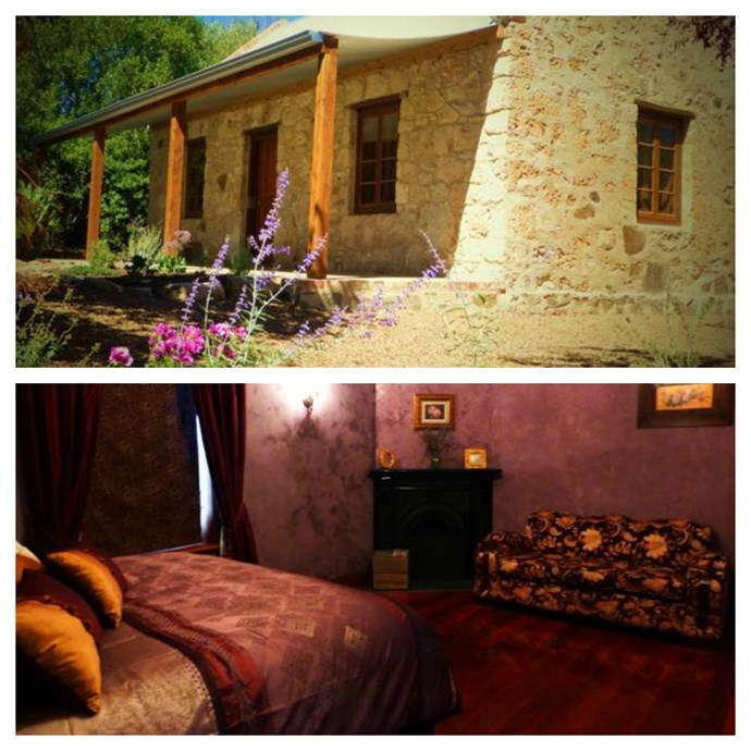 "[**The Bootmakers Cottage, SA**](https://www.stayz.com.au/accommodation/sa/barossa/barossa-valley/123493?k_clickid=aed9049f-1d0c-416b-b7cb-22e420b1fc56&ksid=aed9049f-1d0c-416b-b7cb-22e420b1fc56&ksprof_id=403&ksaffcode=21501414&ksdevice=c&gclid=COqpyLH9ttECFQubvQodBwILwQ|target=""_blank""