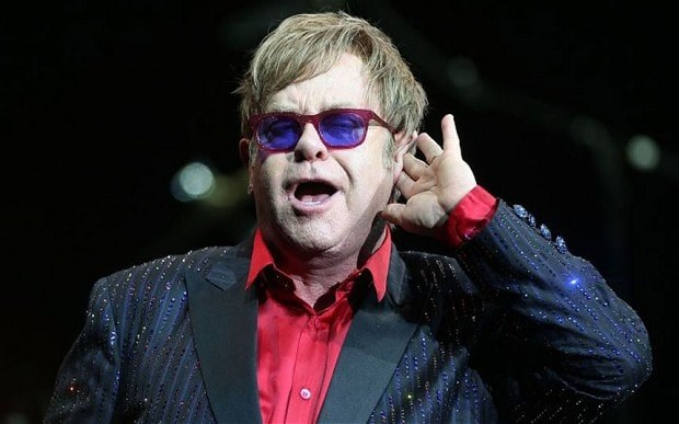 """HEAT THAT? That's the sound of no Elton John at Trump's party. """"It's nothing personal, his political views are his own, mine are very different, I'm not a Republican in a million years"""", he told the *Guardian*."""