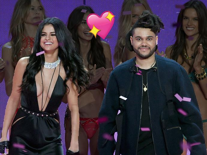 Selena Gomez and The Weeknd at the 2015 Victoria's Secret Show