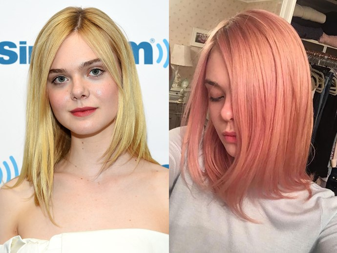 **Elle Fanning.** We love the fact that ~~Princess Aurora~~ Elle chose to go with a soft, romantic, dusky pink instead of an in-your-face-fluro hue. It's really suits her porcelain skin tone and deserves and EPIC round of applause.