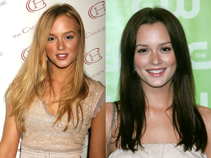 **Leighton Meester.** NO MATTER HOW MANY TIMES WE HEAR IT, WE STILL CANNOT DEAL WITH BLAIR BEING BLONDE PRE-*GOSSIP GIRL*. EVER.