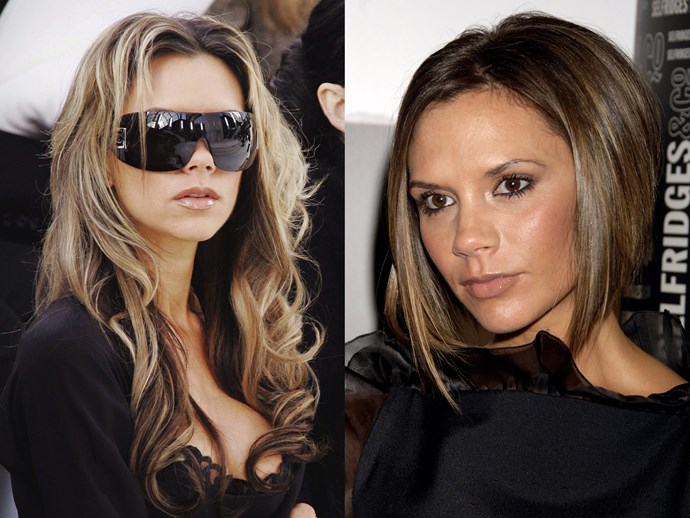 **Victoria Beckham.** Kween V was always the most adventurous Spice Girl when it came to drastic hair moves. Back in '06, Victoria traded in her WAG extensions and went full Pob mode with a graded bob. Cue: worldwide wannabes.