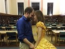 This guy handsewed his girlfriend a Belle dress for the most-perfect 'Beauty and the Beast' proposal