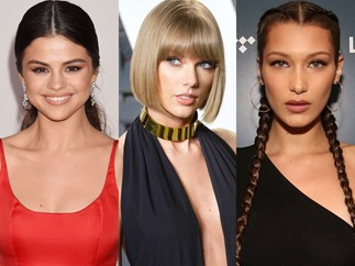 Taylor Swift stuck in the middle of Bella Hadid and Selena Gomez