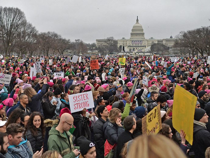 Millions march around the world to protest Donald Trump