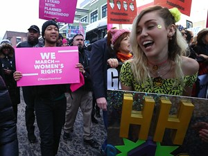 Celebrities join Women's March to protest Donald Trump
