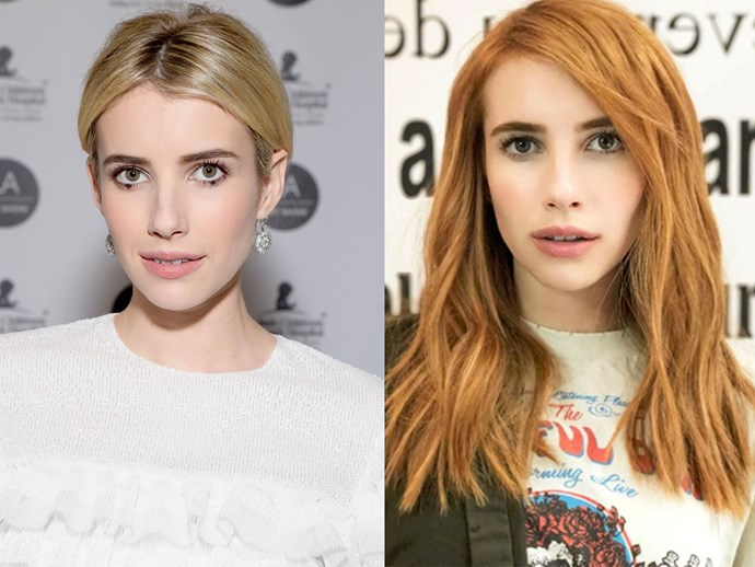 Emma Roberts absolutely slays as a blonde bombshell, but her new orange 'do is going to INSTANTLY make you book an appointment with your hairdresser.