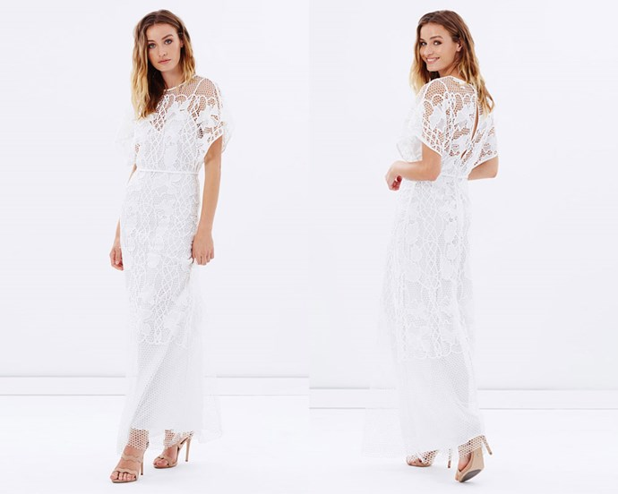"""Dress, $350, Stevie May at [The Iconic](http://rstyle.me/n/cemskvvs36 target=""""_blank"""" rel=""""nofollow"""")."""