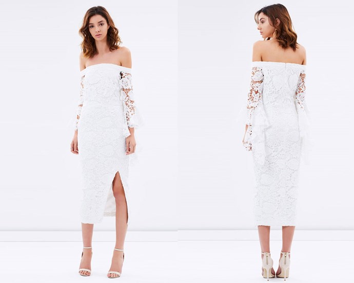 """Dress, $259 at [The Iconic](http://rstyle.me/n/cemrxwvs36 target=""""_blank"""" rel=""""nofollow"""")."""