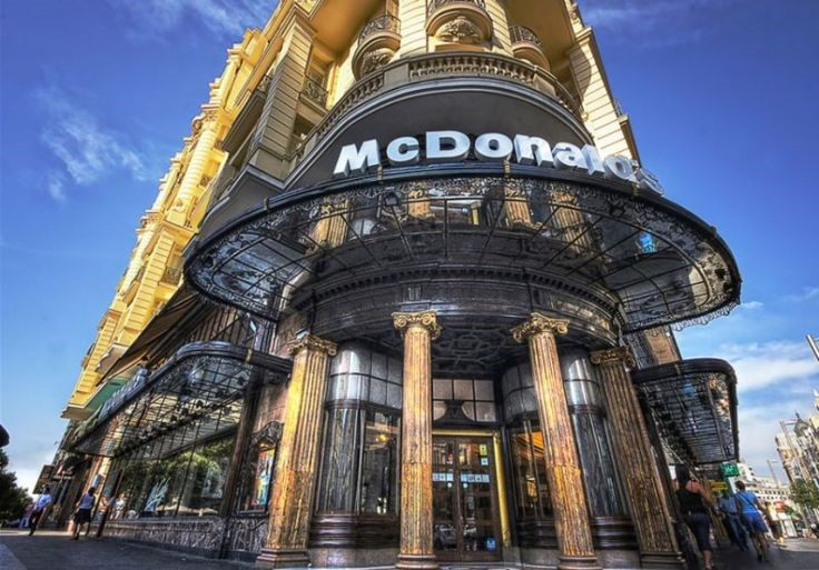 The McDonald's on Spanish Broadway, Madrid in Spain is McStunning.
