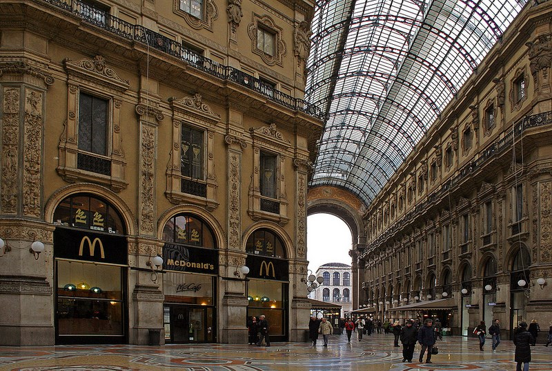 McDonald's at Galleria Vittoria Emanuele in Milan, Italy is fit for a McKween.