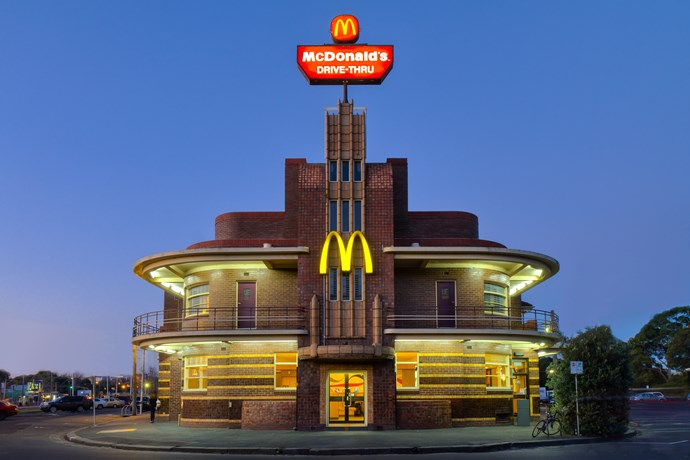 The McDonald's building in Clifton Hill, Melbourne, Victoria, Australia is McArt Deco.