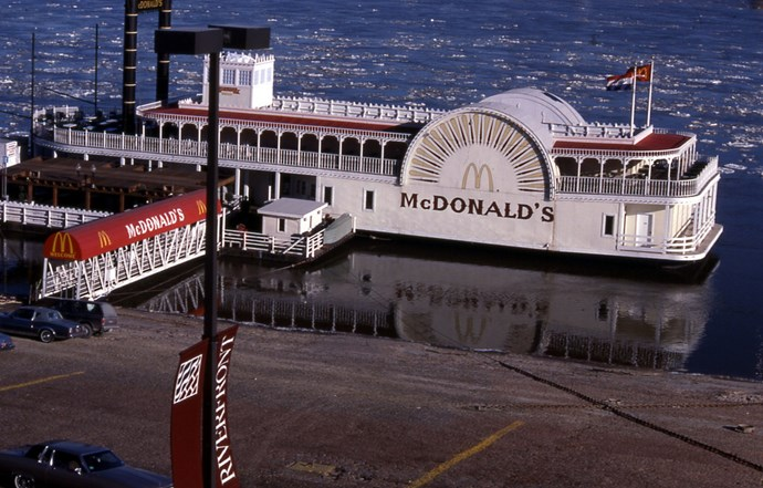 McDonald's River Boat on the Mississippi River, St. Louis is McWonderful.