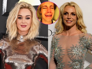 Katy Perry dissed Britney Spears on the Grammy's red carpet and fans aren't too happy