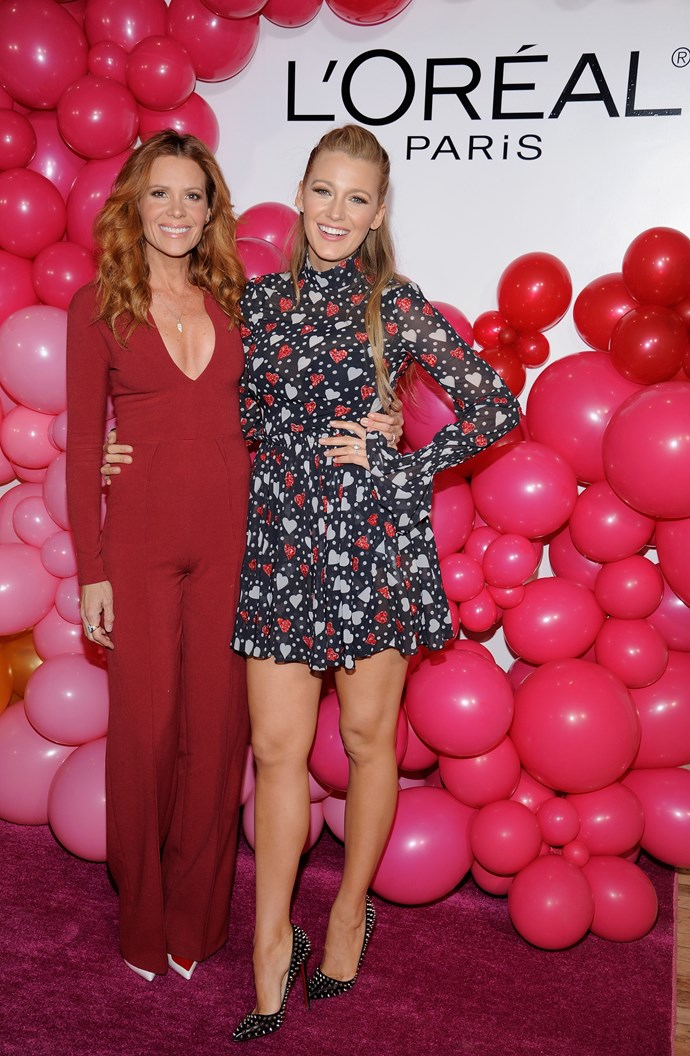 Blake could not have nailed the theme more while hosting L'Oreal Paris' Valentine's Party.