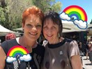 People are flooding Michelle Meyers' Facebook page with rainbows