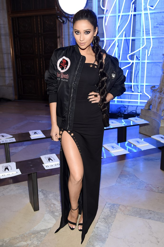 In fact, Shay's been actually killing it at all of her NYFW appearances. Here she is with the most epic power-plait ever at the Philipp Plein Autumn/Winter show.