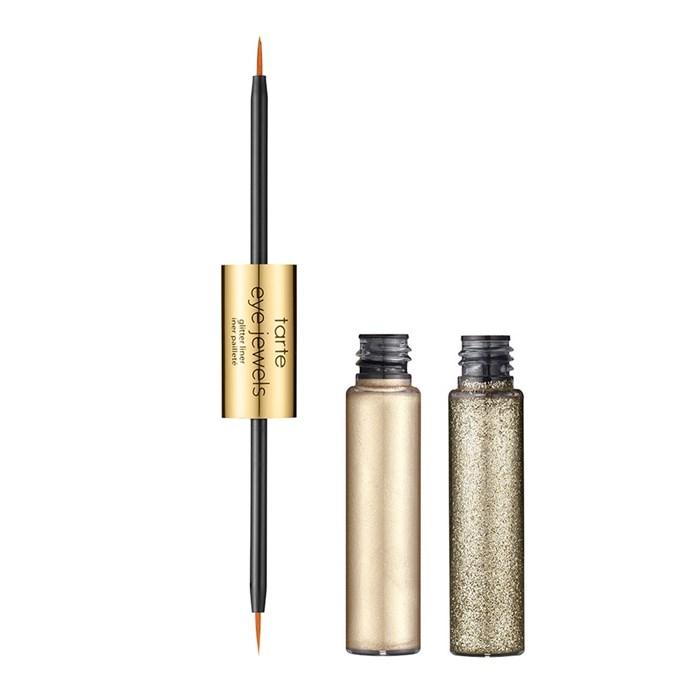 "[Tarte PRO Eye Jewels Glitter Liner](http://www.sephora.com.au/products/tarte-tarteist-pro-eye-jewels-glitter-liner/v/white-gold|target=""_blank""|rel=""nofollow""), $38."