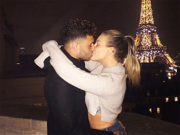 Perrie Edwards can't stop Snapchatting in bed with Alex Oxlade-Chamberlain