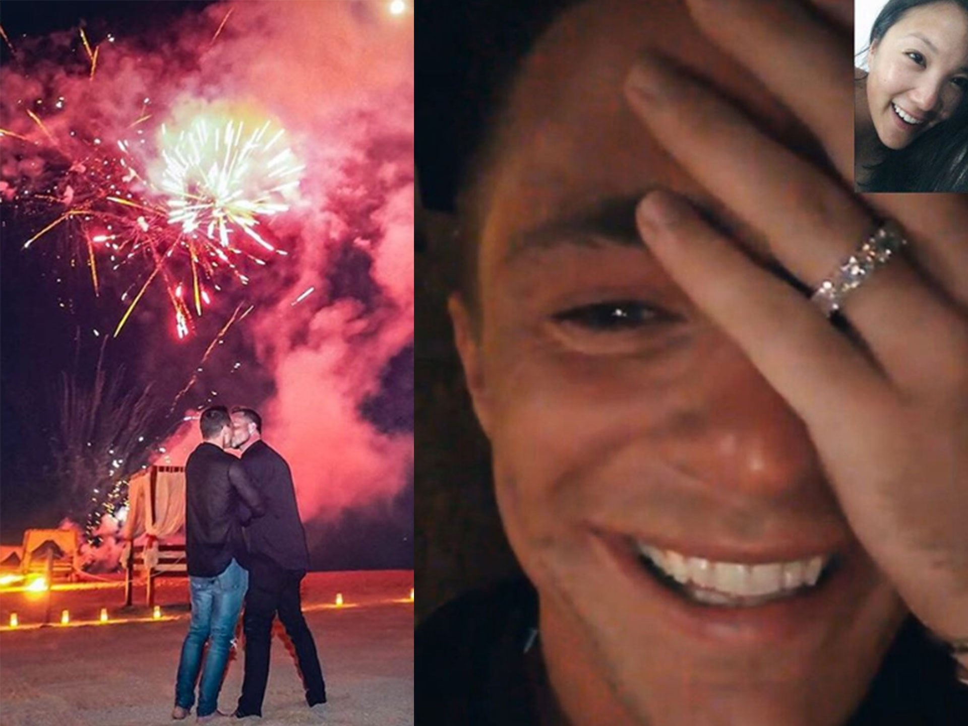 *Teen Wolf* heart-throb Colton Haynes just got engaged to his boyfriend Jeff Leatham while on vacay in Mexico. Jeff treated Colton to fireworks, and an outdoor movie. Colton later showed off his AMAZING sparkler to his best friend Ally Maki on Facetime. <3