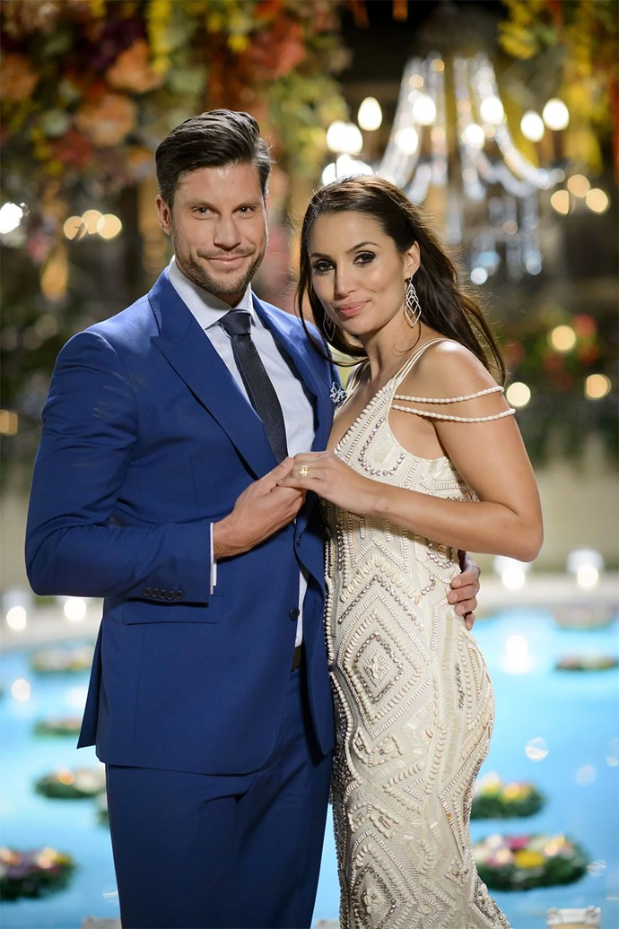 The beaded dress Snezana wore in the finale of *The Bachelor* definitely had wedding vibes.