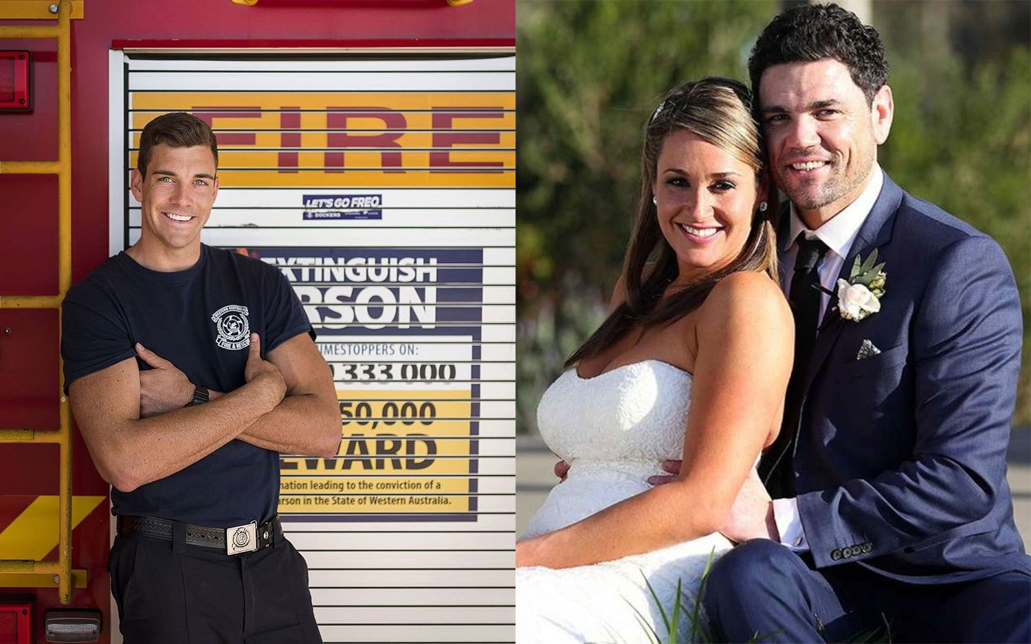 """Fireman Cam Cranley from *The Bachelorette* and Andrew from *Married at First Sight* work at the same fire station in Perth! In fact, Andrew told *NW* that they """"do shifts for each other all the time."""""""