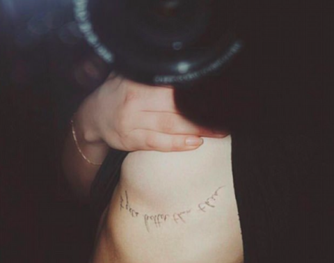 "Well, it looks like actress Chloë Grace Moretz went and got an underboob tattoo! Apparently, her cute new ink says, ""It gets better than this."" Moretz's tattoo artist, Doctor Woo, posted this image to his [Instagram](https://www.instagram.com/_dr_woo_/