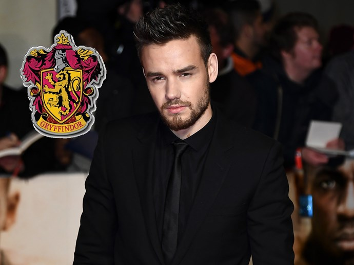 **Liam Payne** also sided with Gryffindor when he was spotted wearing a red-and-gold scarf.