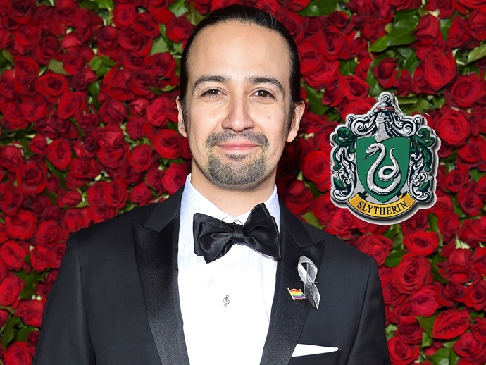 """The man behind hit musical *Hamilton*, **Lin-Manuel Miranda**, told fans on Twitter he's definitely a Slytherin, writing, """"Slytherin son. You know why."""""""