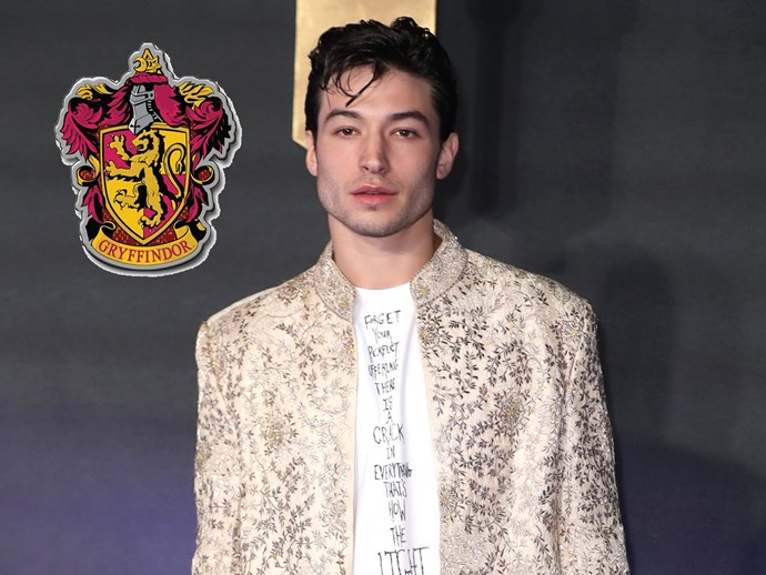 """**Ezra Miller**, who also starred in *Fantastic Beasts*, is such a Gryffindor die-hard that he refused to be sorted, just in case he was sorted elsewhere. """"I respect the sorting process and I'm so on board with Pottermore — you guys are like Dumbledore's Army, keeping it all alive. I know the Sorting [Ceremony] was written by J.K. Rowling, but I still can't risk it. What if I get Slytherin? I couldn't live with myself. I need to be in Gryffindor. If I didn't get Gryffindor, I wouldn't know who I was anymore."""""""