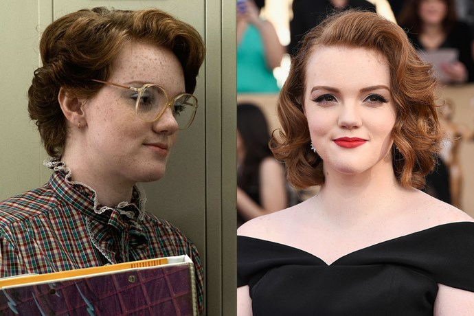 On *Stranger Things*, Barb was all permed hair, glasses and freckles. In real life, Shannon Purser is all retro glam.