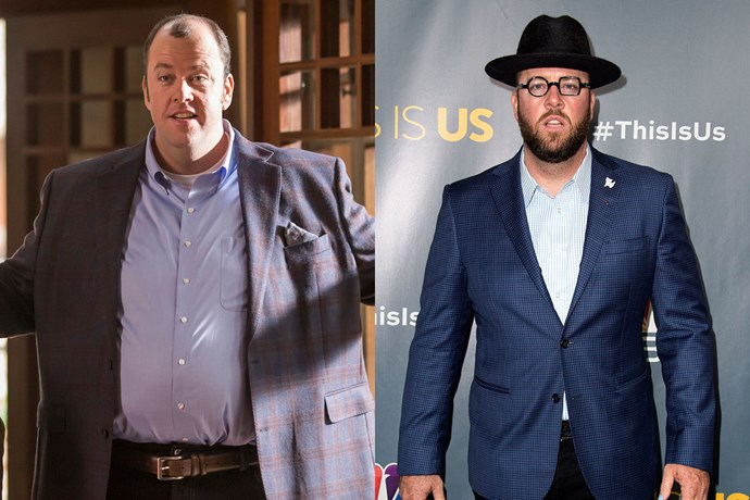 """Chris Sullivan, who plays the very lovable Toby on *This Is Us*, [wears a fat suit for the role](http://pagesix.com/2017/02/07/surprise-chris-sullivan-from-this-is-us-wears-a-fat-suit/ target=""""_blank"""")! The set secret was revealed when a picture of Chris IRL surfaced on the web, and everyone noticed he looked very different."""