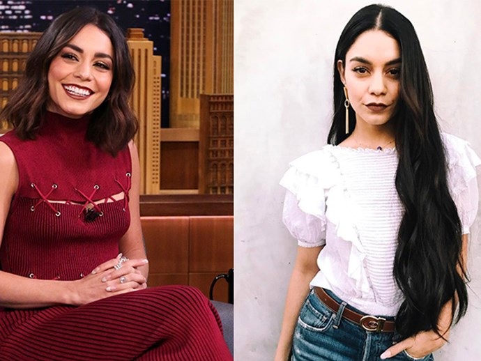 Vanessa Hudgens has ditched the trendy lob for a more Kim Kardashian inspired 'do. She's gone with long, beachy waves that would make any mermaid jealous.