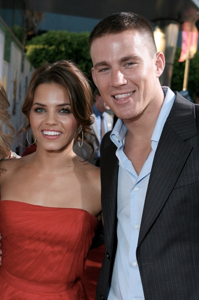 **August 2006**  The pair were officially a thing by now, and weren't afraid to show it at the Los Angeles premiere of *Step Up*.