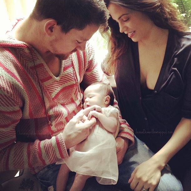 """**4 June 2013**  A message pops up on Channing Tatum's official website announcing the happy and healthy birth of their baby daughter, along with her cute name.  """"Jenna Dewan-Tatum and Channing Tatum are thrilled to announce the birth of their daughter, Everly Tatum, who was born on May 31st in London,"""" the message said. """"Sending love and light to Chan, Jenna and Ms. Everly!""""  **16 June 2013**  Everly makes her Instagram debut, along with the caption: """"First Father's Day with our lil angel!""""  Instagram: [@jennaldewan]( https://www.instagram.com/jennaldewan/?hl=en
