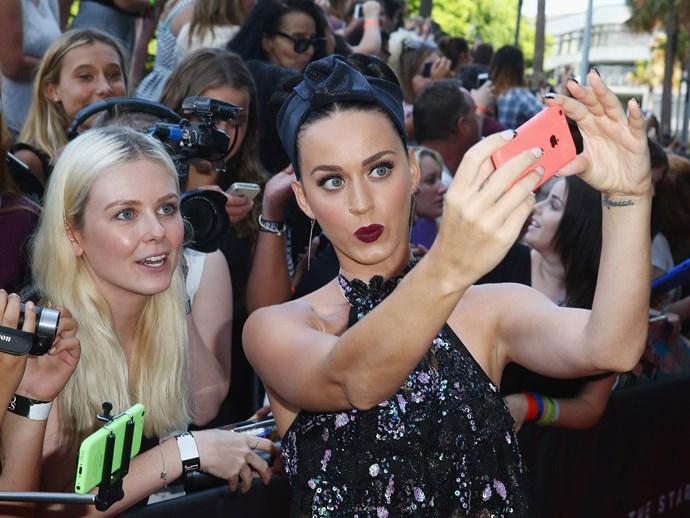 Katy Perry's fandom are named the **KatyCats.**